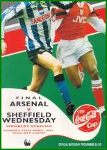 1993 LEAGUE CUP FINAL - ARSENAL v SHEFFIELD WEDNESDAY